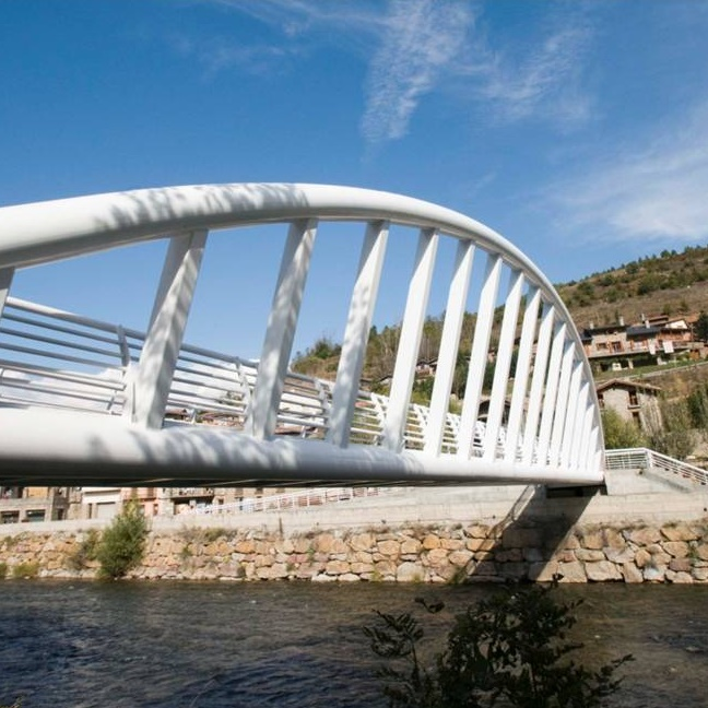 Footbridge over the River Segre at Martinet