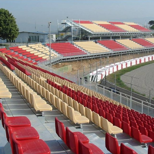 Permanent grandstand at the Circuit de Catalunya racing track